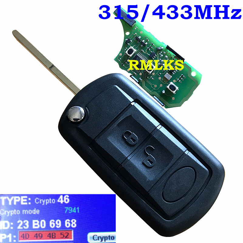 3 Taste Flip Remote Auto Key Fob Remote Keyless Flip Uncut Key Fob 315 Mhz 433 Mhz Pcf7941 Chip Für Land Rover Discovery 3 Für Lr3