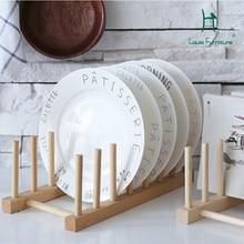 Модные стойки для CD японской кухни, многофункциональная полка, твердая деревянная посуда, поднос для капельного лотка, полка для книжной полки