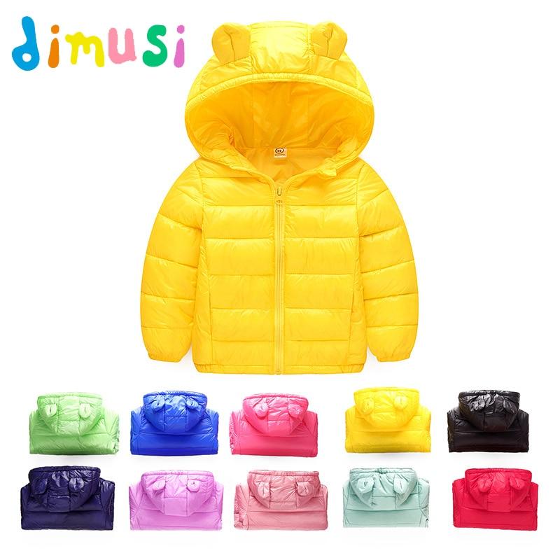 DIMUSI Autumn Winter Boys Jackets Cotton Thick Windbreaker