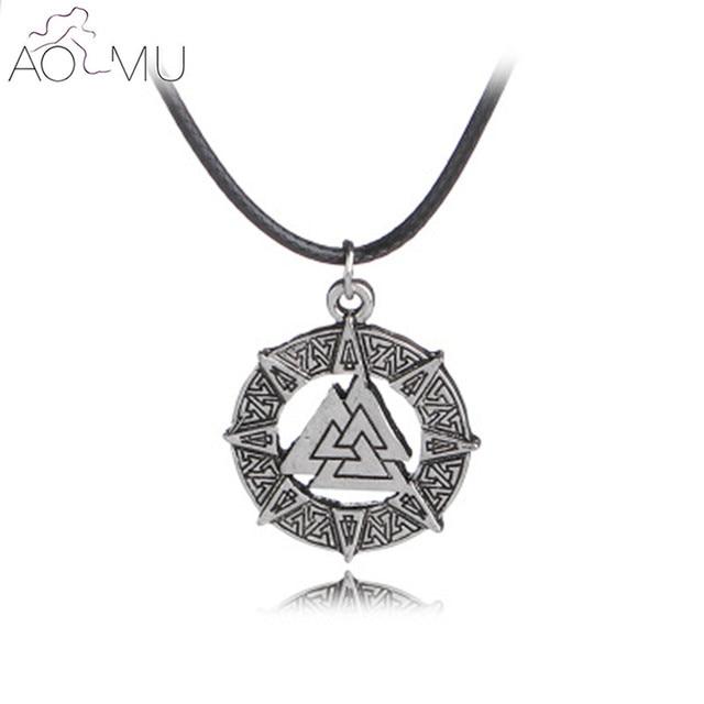Aliexpress Buy Aomu Rune Symbol Viking Death Knot Nordic