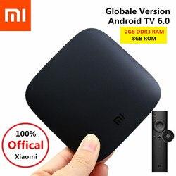 Global Version Xiaomi Mi Box 3 Android TV Box 4K 60fps Amlogic Quad Core Smart TV Box Android 6.0 64Bit WiFi Set Top Box