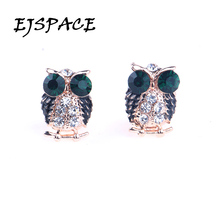 Femme 2016 Fashion Owl Stud Earrings Boucle d'oreille Owl Earrings for Women Bijoux Jewelry Brincos Pendientes Mujer