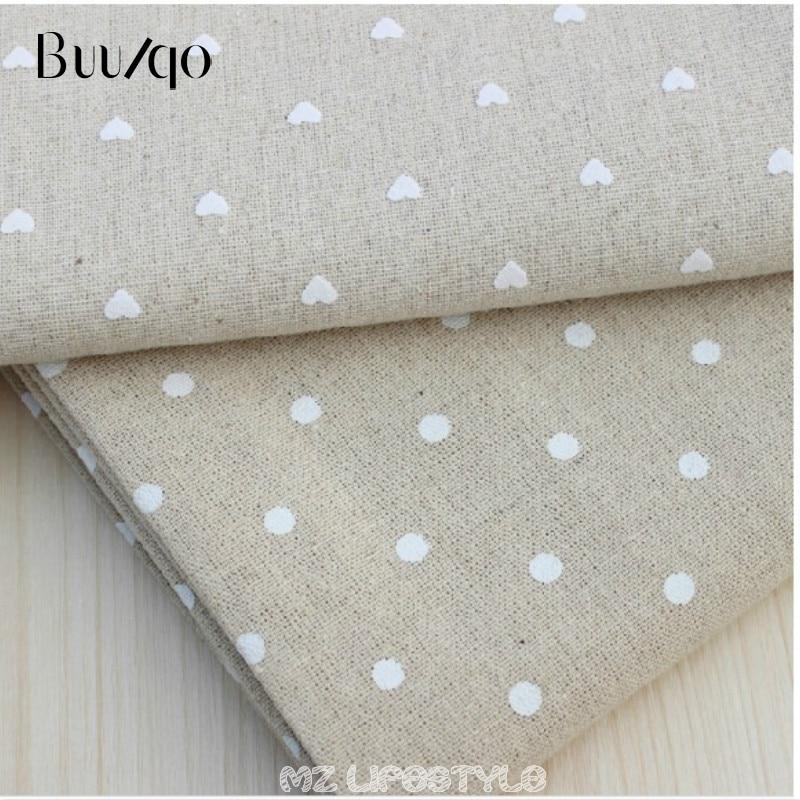 Buulqo 100*150 cm coton et lin tissu imprimé points coton tissu bricolage canapé rideau nappe décor à la maison coton tissu