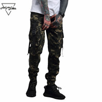 Aelfric Eden Mens Warm Pants Military Style Casual Pants Camouflage Joggers Punk Sweatpants Winter Cargo Pants