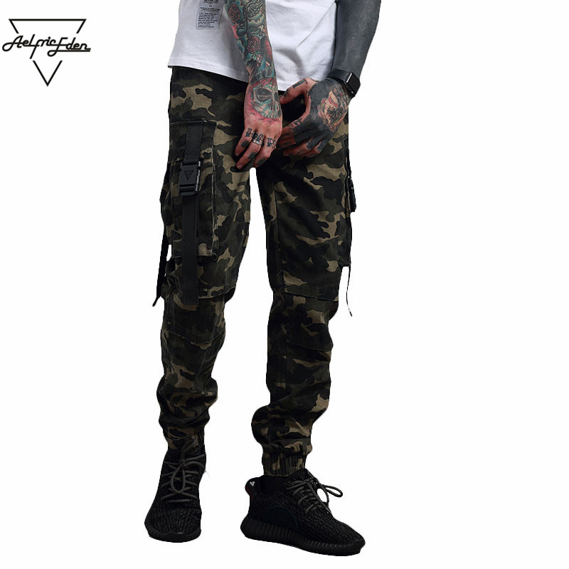 Aelfric Eden Mens Warm Pants Military Style Casual Pants Camouflage Joggers Punk Sweatpants Winter Cargo Pants Streetwear PA039
