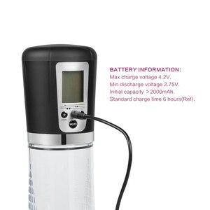 Image 3 - חשמלי פין משאבת, חזק USB נטענת אוטומטי משאבת ואקום, הזקפה פין Enlarger, פין Extender