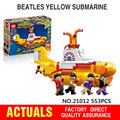Lepin 21012 Los Beatles John Winston Lennon Paul McCartney Harrison Ringo Starr Submarino Amarillo Bloques de Construcción de Modelos de Juguetes