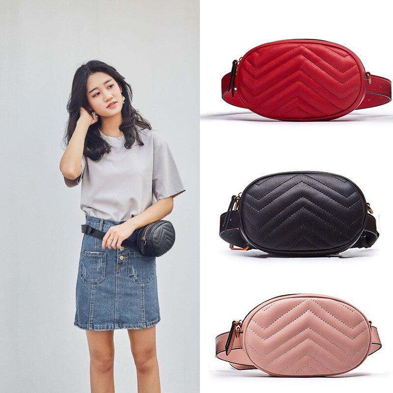 Women Waist Packs Crocodile Pattern Mobile Phone Waist Bag Multi-functional High Capacity Lady Oval Mini Waist Packs
