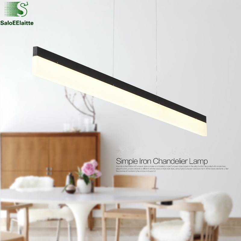 Modern Straight Lustre Acrylic Led Pendant Light Indoor Lighting Lamparas Hanging Light Lustre Pendant Fixtures Suspension Lamp