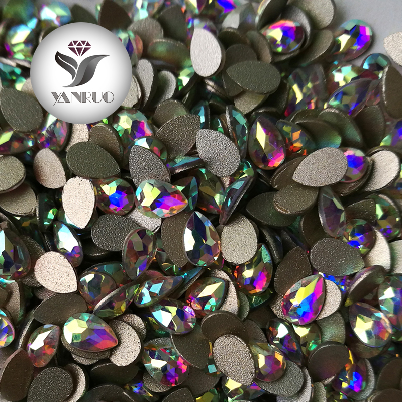 144pcs&72pcs Crystal  Beauty Sticker Nail Drop Flat Bottom Charming DIY Manicure Glitter Nail Art Rhinestone Decoration Studs