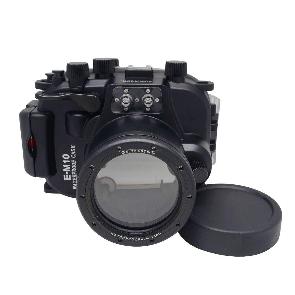 New Arrivals for Olympus EM10 E-M10 12-40mm len Meikon Waterproof Underwater Housing Camera Diving Case olympus creator soft case m черный