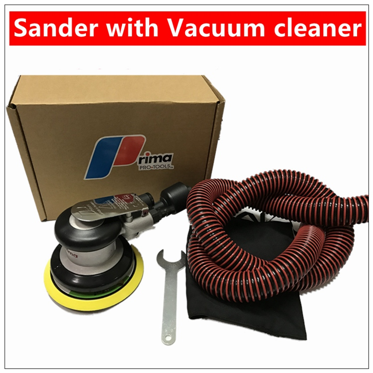 High Quality  Pneumatic Sanders Air Eccentric Orbital Sanders 5 125mm Cars Polishers Air Tools with Vacuum cleaner 5 inch 125mm pneumatic sanders pneumatic polishing machine air eccentric orbital sanders cars polishers air car tools
