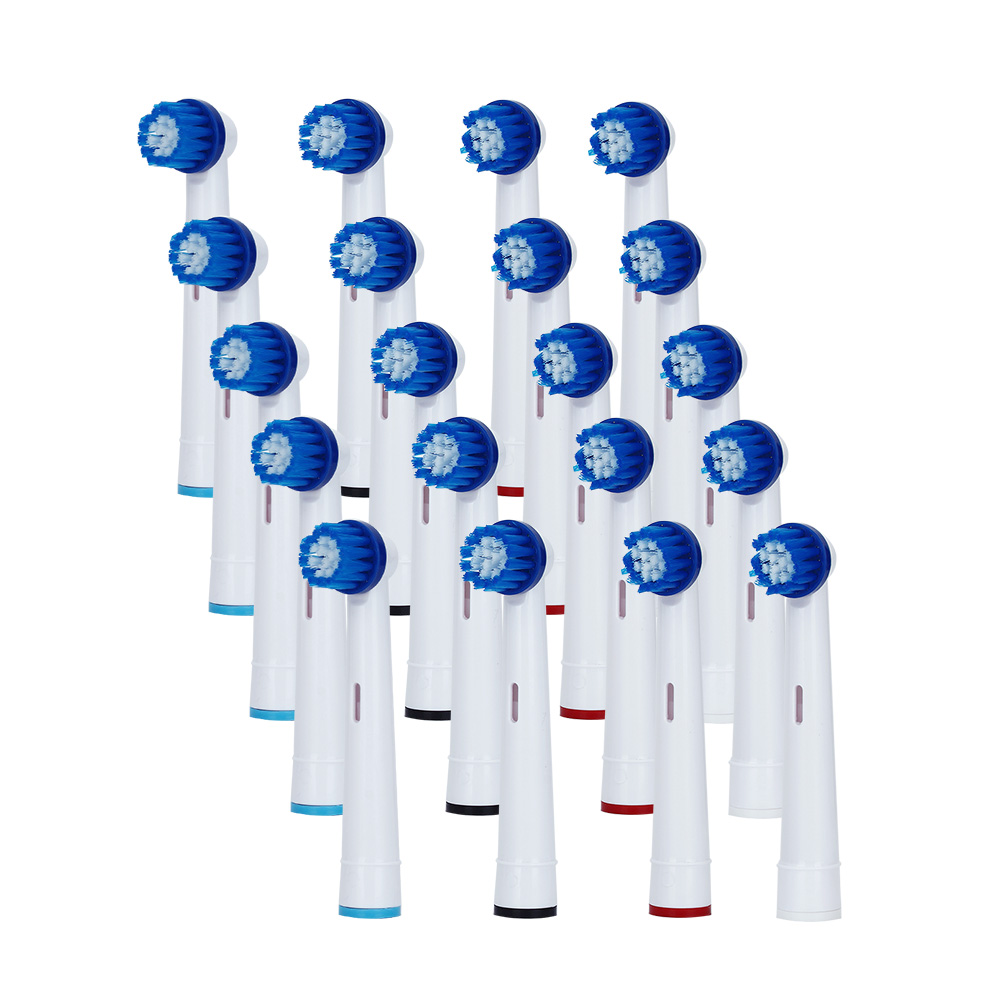 20pc Electric Toothbrush Heads For D12 Braun Oral B Oral Hygiene Vitality Power Head Sonic Replacement Tooth Brush Head Soft цены
