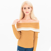 2017 Pullover Sweaters Sexy Off Shoulder Women Knit Autumn Winter Fall Fashion Sweater Top Womens Jumper