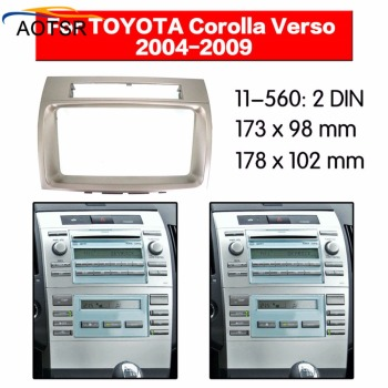 Radio Facia For TOYOTA VERSO 2004 2005 2006 2007 2008 2009 Fascia Car Stereo Radio Installtion Dash