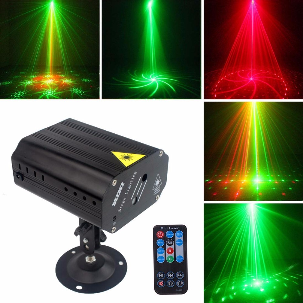 Mini Laser Projector Light LED RG Stage Disco Lamp For New Year Dance Floor Christmas Party Indoor Outdoor Lighting Decoration