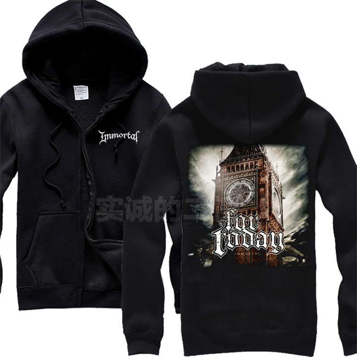 4 kinds fleece Norway Immortal Rock Cotton Big Ben dancer Hoodies Autumn Shell jacket punk death dark heavy metal chandal