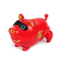 Electronic Piggy Bank Cartoon Red Pig Singing Walking Pig Coin Bank Storage Toys For Kids with singing children's financial