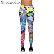 d4d880f27add01 N-olsollo Chinese New Year Paintings 3D Auspicious Clouds Carp Fitness  Leggings Workout Yuga Pants