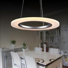 Современные акриловые подвесной светильник, СВЕТОДИОДНЫЕ люстры, творческий круговой подвесной светильник, AC90-265V 23 Вт, 50 СМ одного круга Продаж