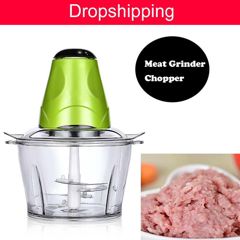 Electric Chopper Shredder Food Chopper 2L Electric Meat Grinder Chopper Stainless Steel Household Processor Kitchen Tool