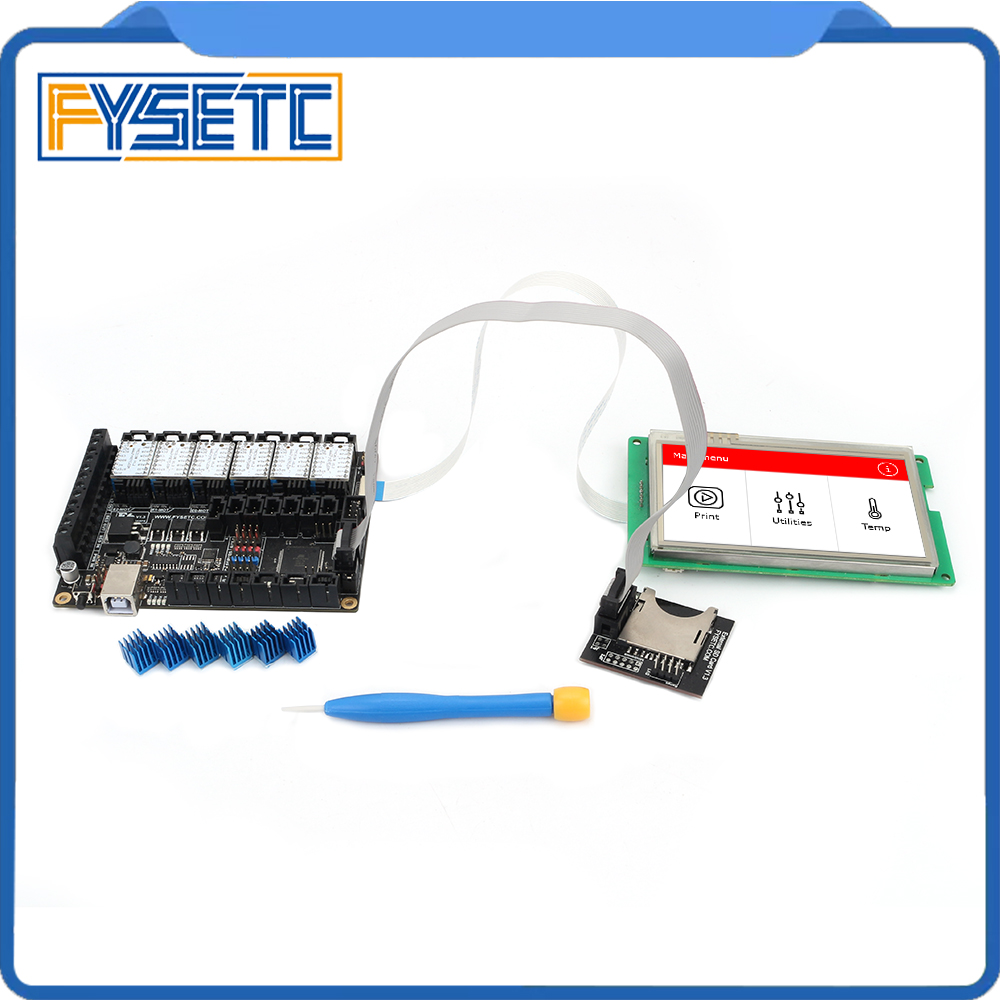 "Image 5 - FYSETC F6 V1.3 ALL in one Mainboard + 4.3"" Touch Screen + 6pcs TMC2100/TMC2208 /TMC2130 v1.2/DRV8825/S109/A4988/ST820-in 3D Printer Parts & Accessories from Computer & Office"