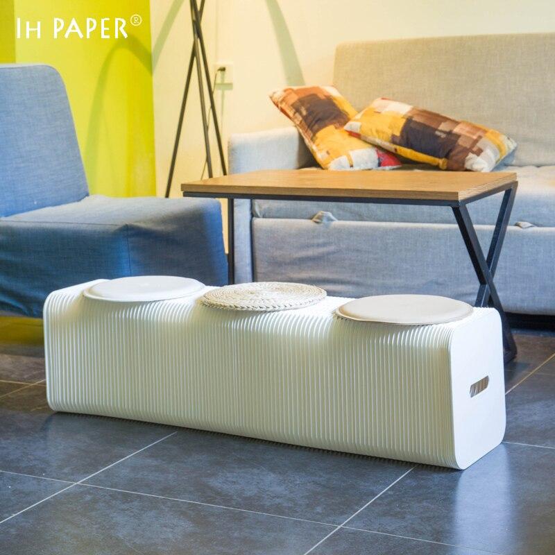 Fashion Creative White Kraft Paper Folding Sofa, ,Space- saving Sofa for office room/living room Modern Minimalist Design 140 page note paper creative fruit design