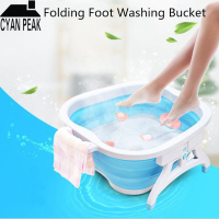 1PC Foot Basin Bucket Folding Bucket Container Plastic Foot Tub Spa Foldable Massage Basin Portable Washtub Health Care Bath