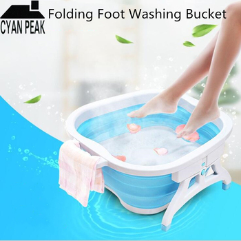 Foot Basin Bucket Folding Bucket Container Foot Tub Spa Foldable Massage Basin Portable Washtub Health Care Bath Pressure