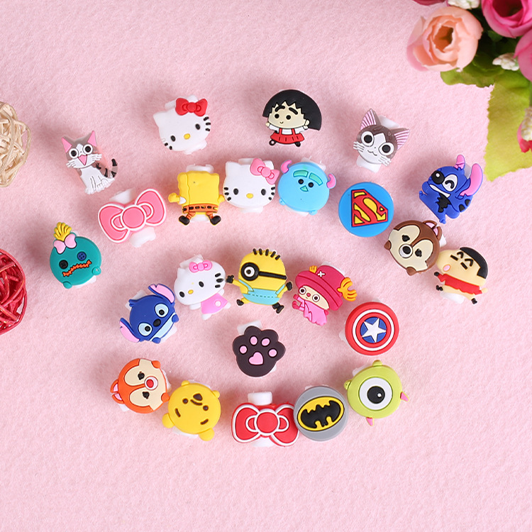 10pcs/lot Cartoon USB Cable Earphone Protector headphones line saver For Samsung HTC charging line data cable protection