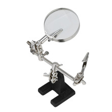 60mm 5x Magnifying Soldering Stand with Glass Clamp Tool Desktop Welding Iron Frame Auxiliary Electronic Maintenance Base