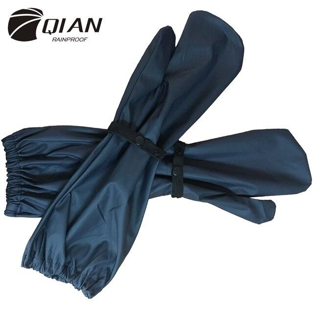 צ יאן בלתי חדיר מעילי גשם נשים/גברים 100% עמיד למים רכיבה על אופניים ארוך גשם כפפות גשם מעיל בגדי גשם ציוד גשם פונצ ו אביזרים
