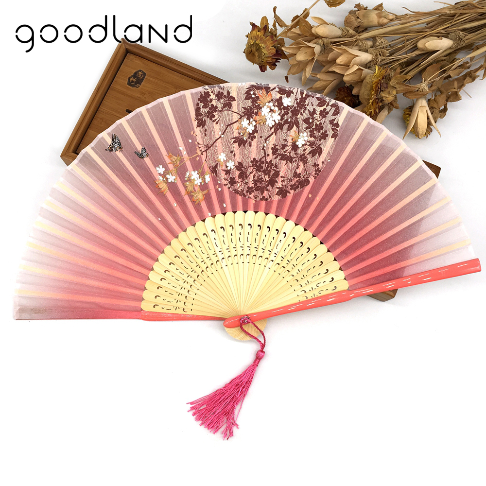 Free Shipping 10pcs Cloth Butterfly Flower Wedding Favor Fan Outdoor ...