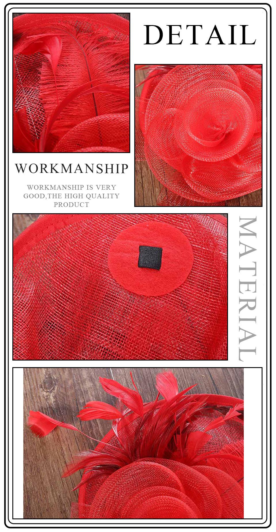 Haimeikang elegante hairpins feminino chapéu de malha
