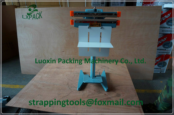 LX-PACK Lowest Factory Prices 350mm heating sealer Aluminum structure pedal sealer band sealer kraft paper bag heat sealer 1100 15 0 2mm baterpak band sealer teflon belt p t f e resin products seamless ring tape frd band sealer parts 50pc bag
