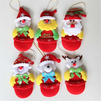 48pcs/lot  Christmas decorations Christmas tree Santa Snowman doll pendant small hanging piece Novelty Toys