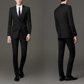 Custom New Arrival Groomsmen Notch Lapel Groom Tuxedos Black Men Suits Wedding Suits Best Man (Jacket+Pants)