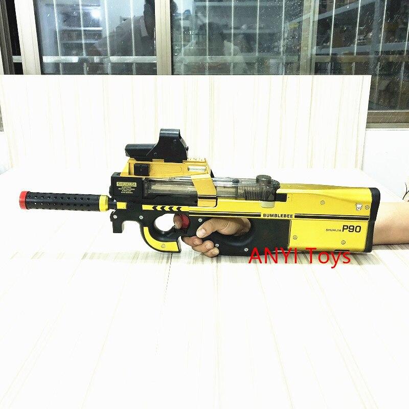 P90 Игрушечный стрелковый пистолет Пейнтбол нападение Бекас оружие мягкая вода пулевой пистолет с пулями игрушки для детей электронная игру...