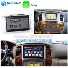 YESSUN para Toyota Land Cruiser 100 2002 ~ 2007 Android Carplay GPS Navi mapas navegación reproductor de Radio BT HD pantalla no CD DVD