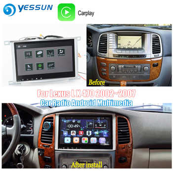YESSUN For Toyota Land Cruiser 100 2002~2007 Car Android Carplay GPS Navi maps Navigation Player Radio BT HD Screen no CD DVD - DISCOUNT ITEM  23% OFF All Category