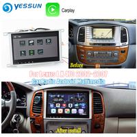 YESSUN For Toyota Land Cruiser 100 2002~2007 Car Android Carplay GPS Navi maps Navigation Player Radio BT HD Screen no CD DVD