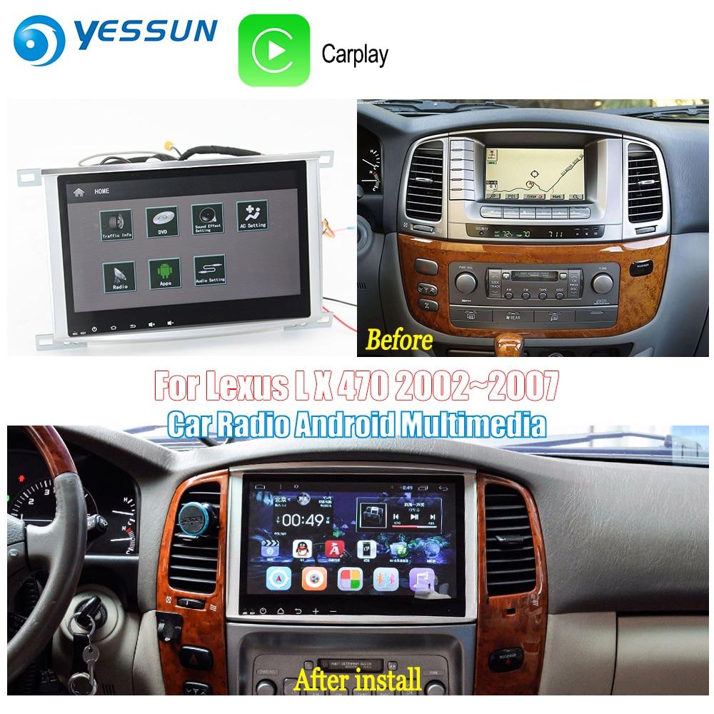 YESSUN pour Toyota Land Cruiser 100 2002 ~ 2007 voiture Android Carplay GPS Navi cartes Navigation lecteur Radio BT HD écran non CD DVD