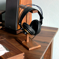 High Quality Handcrafted Natural Wood Stand Holder for Earphone Headset Headphones