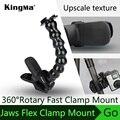 Kingma acessórios jaws flex grampo monte e pescoço ajustável acessórios da câmera gopro hero 5 hero 2/3/3 +/4 sj4000/9000/xiaomi yi