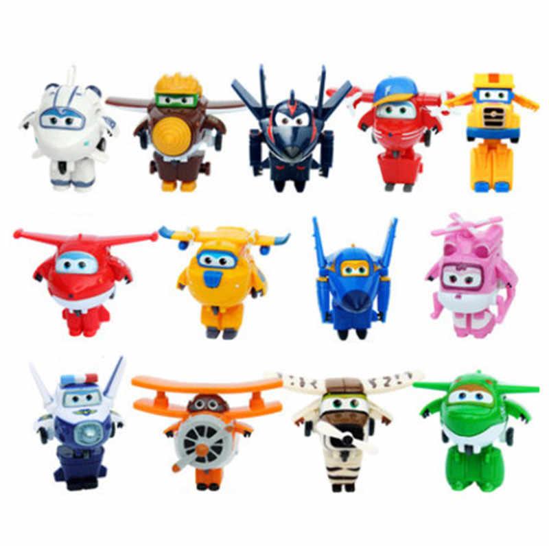 NIEUW! !! 17 stijlen Super Vleugels Mini Vliegtuig ABS Robot speelgoed Actiefiguren Super Wing Transformatie robot speelgoed voor Kinderen Geschenken