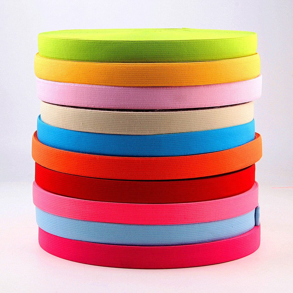 Colorful Elastic Bands 20mm Flat Sewing Rubber Band Underwear Panty Rubber Clothes Sewing Accessories Soft Waistband Elastic 1 M