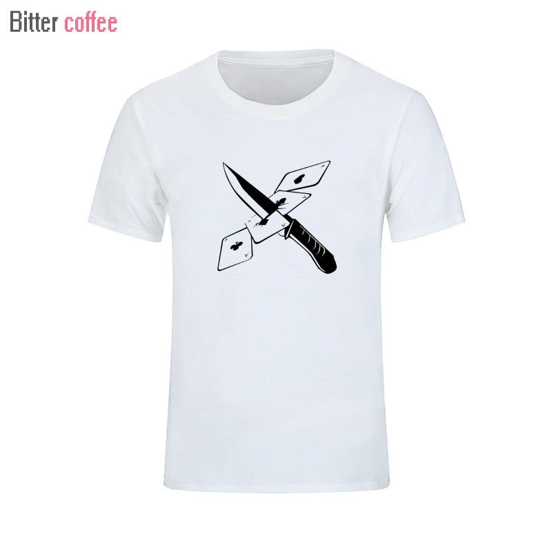 BITTER COFFEE 2018 Summer T Shirt Chinese Dragon Mask t-shirt Boy Hip hop Skate Brand 100% Cotone T shirt free shipping