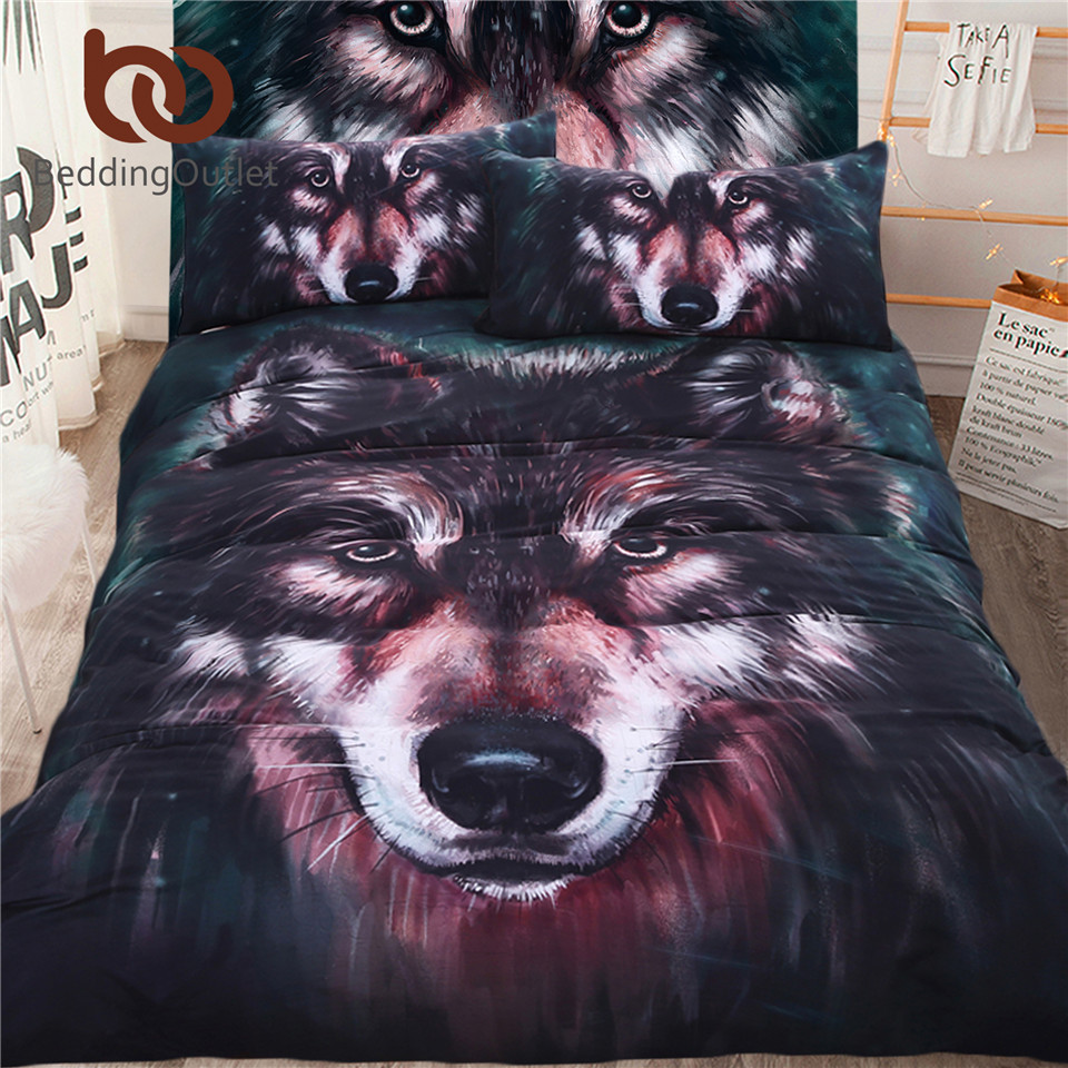 BeddingOutlet 5pcs Bed in a Bag Wolf 3d Bedding Set Duvet Aniaml Printed Bed Cover Twin Full Queen King Home TextilesBeddingOutlet 5pcs Bed in a Bag Wolf 3d Bedding Set Duvet Aniaml Printed Bed Cover Twin Full Queen King Home Textiles