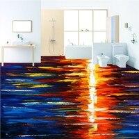 شحن مجاني hd ملون خلاصة الغروب النفط الطلاء 3d نوم مطبخ حمام الطابق ماء عدم الانزلاق خلفيات جدارية