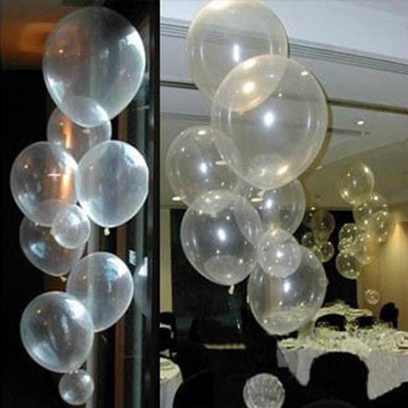 10 Uds 2,2g globos transparentes de látex confeti globo Babyshower niño globo para boda fiesta de cumpleaños globo San Valentín